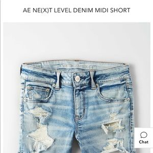 American Eagle denim ripped shorts